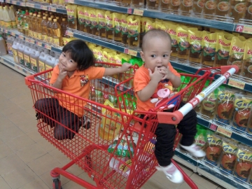 When you going to supermarket..